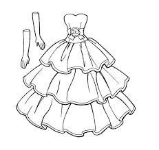 Coloring Pages Of Dresses Free Printable Wedding Coloring Pages