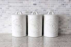 White Ceramic Kitchen Storage Jars