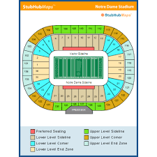Notre Dame Stadium Detailed Seating Chart Notre Dame Stadium Map