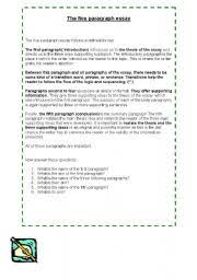 english teaching worksheets paragraphs english worksheets the five paragraph essay