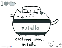 Coloring Pages Pusheen Coloring Pages Halloween Printable Fall