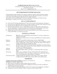 Profile Summary For Desktop Support Engineer Rome