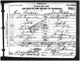 Nyc marriage certificate bronx county 28 july 1934 cert 5607 fhl