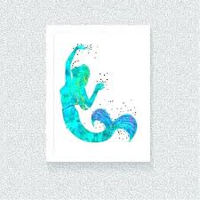 wooden mermaid wall art decor watercolor by urban outfitters diy m