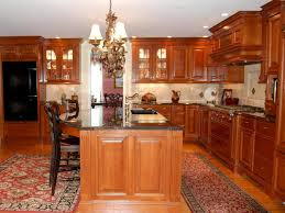 cherry kitchen cabinets. Cherry Kitchen Cabinets With Granite Countertops White Painting Ideas Pull Out Faucet Dining Chair Black Metal Microwave Oven Cabinet