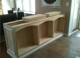 double sided built in half wall bookcase mitre
