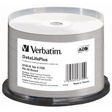 Купить <b>Диск DVD-R Verbatim</b> 4,7GB, 16x, КОМПЛЕКТ 50шт, Cake ...
