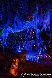 halloween outdoor lighting. Uplighting Ups The Spooky Factor | 7 More Ways To Create Outdoor Halloween Lighting L