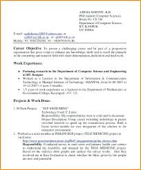Objective In Resume For Computer Science Computer Science Resume Template Resume Of Computer Science 96