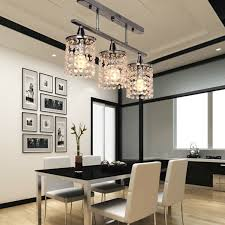 linear dining room lighting. 3 Lights Hanging LED K9 Crystal Linear Chandelier With Stainless Steel Fixture Modern Ceiling Lamp Luminarias Para Sala 90 260V-in Pendant From Dining Room Lighting B