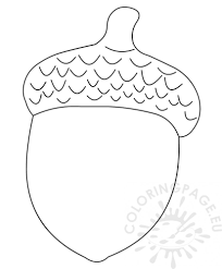 Acorn Coloring Page Free Coloring Pages