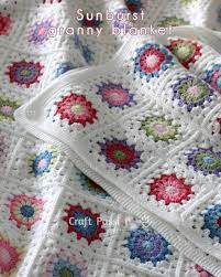 Granny Square Blanket Pattern Unique Sunburst Granny Square Blanket Free Crochet Pattern