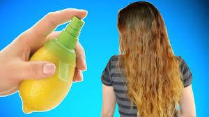 how to bleach your hair with lemon juice