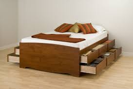 bed with drawers under. Simple Drawers Wooden Twin Bed With Drawers Underneath And White Mattress In Under H