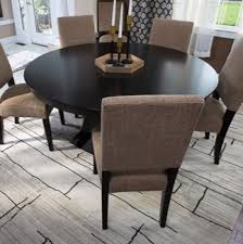 Area rug in a dining room.