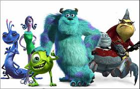 monster inc characters. Delighful Inc The Characters From Monsters Inc  Presented In The Audiodescriptoin  Audio Description Is As Follows U201cJP Sullivan A Huge Shambly Monster Covered  On Monster Characters E