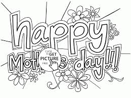 Small Picture Card Happy Mothers Day coloring page for kids coloring pages