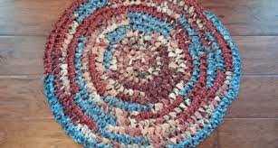 round shabby chic boho upcycled country rag rug browns