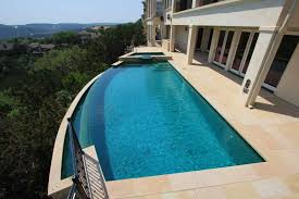 inground pools with waterfalls and hot tubs. Large Negative Edge Pool With Attached Hot Tub Inground Pools Waterfalls And Tubs W