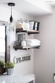 bathroom with an industrial feel