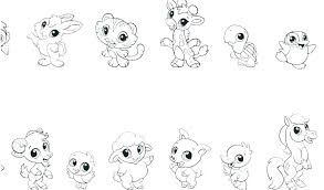 Baby Animal Printables Cute By Animal Coloring Pages To Print Zoo Of