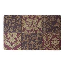 Anti Fatigue Kitchen Floor Mat Home Dynamix Soothing Step Brown 24 In X 36 In Anti Fatigue