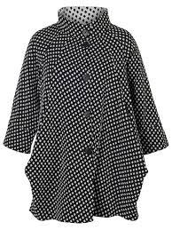 chesca diamond jacquard print jacket ivory black 35 polyacrylic 34 polyester 31