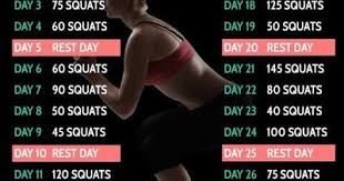 7 Day Squat Challenge Chart 30 Day Easy Squat Challenge Fitness Workout Chart This Migh