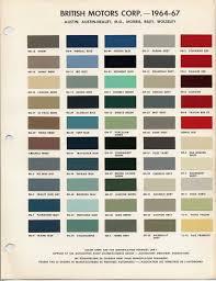classic mini cooper austin version of bmc paint color codes