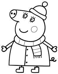 Peppa Pig In Inverno Da Colorare Cose Per Crescere