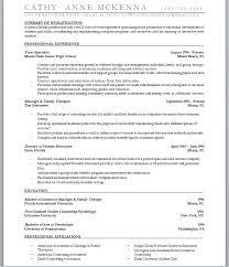 Sample Resume: