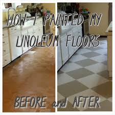 Linoleum Flooring For Kitchen How To Paint Old Linoleum Kitchen Floors Pull Up The Floor And