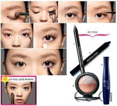 small korean natural makeup tutorial 43 hearts collect share blush eye shadow and mascara image