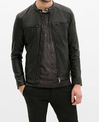 zara perforated faux leather jacket in black for men lyst
