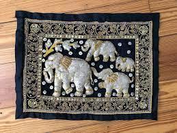thai thailand 4 elephant family beaded