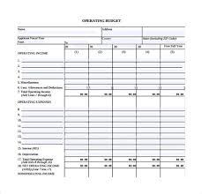 Operations Budget Template - Costumepartyrun