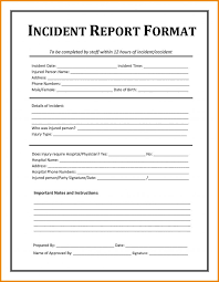 Workplace Incident Report Form Template Aprilonthemarchco Accident