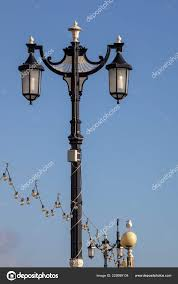 Old Fashioned Light Pole Worthing West Sussex November Ornate Old Fashioned Lamp Post
