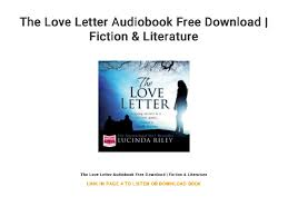 Love Letter Free Download The Love Letter Audiobook Free Download Fiction Literature