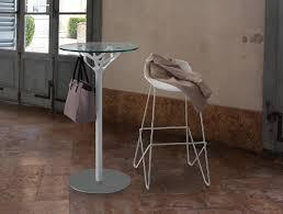Tavolino rotondo in acciaio cromato e piano in vetro idfdesign