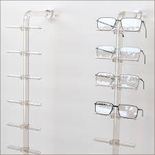 dwy fl acrylic wall mount eyewear display rod w 10 12 or 14 flat clips 8 gif