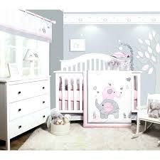 nautical crib bedding sets girl elephant baby nursery 6 piece set