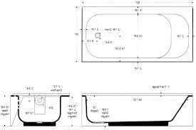 bathtub measurements standard corner