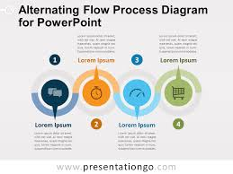 Alternating Flow Process Diagram For Powerpoint