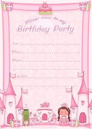 Birthday Party Invitation Card Template Free Free Printable Princess Birthday Party Invitations Printable Party