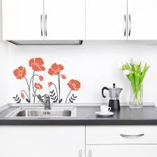 on poppy wall art stickers with cali poppies wall art decal