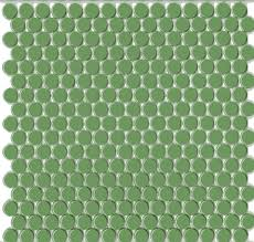 Bright Green Round Modern Mosaic Tile Lime Modwalls Designer