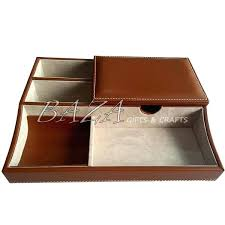royce leather mens valet tray