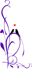 purple love birds clipart. Delighful Clipart Love Birds On A Branch Purple Long 2 Clip Art For Clipart R