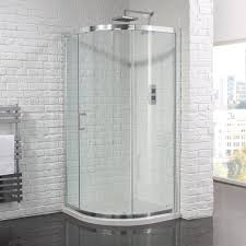 Delighful Curved Shower Enclosures Uk Aquadart Venturi 6 Single Door And Design